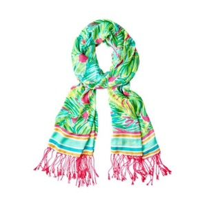 Lilly Pulitzer Tropical Storm Scarf with Fringe